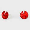 Red Small Round Crystal Stud Earrings | 10mm = 0.39""