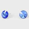 Sapphire Small Round Crystal Stud Earrings | 10mm = 0.39""