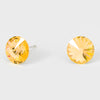 Yellow Small Round Crystal Stud Earrings | 10mm = 0.39"
