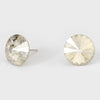 Clear Small Round Crystal Stud Earrings | 15mm = 0.59""