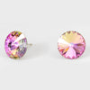 Multi-Color Small Round Crystal Stud Earrings| 15mm + 0.59
