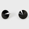 Black Small Round Crystal Stud Earrings | 15mm = 0.59""