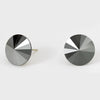 Hematite Small Round Crystal Stud Earrings | 15mm = 0.59""