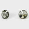 Black Diamond Small Round Crystal Stud Earrings | 15mm = 0.59""