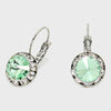 Small Mint Austrian Crystal Stud Earrings | 0.5""