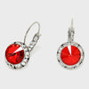 Small Red Austrian Crystal Stud Earrings | 0.5""