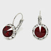 Small Dark Red Austrian Crystal Stud Earrings | 0.5""
