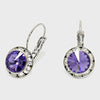 Small Tanzanite Austrian Crystal Earrings | 0.5"