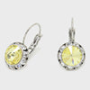 Small Yellow Austrian Crystal Stud Earrings | 0.5""
