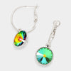 Small Multi-Color Austrian Crystal Dangle Earrings