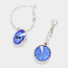 Small Blue Austrian Crystal Dangle Earrings