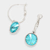 Small Turquoise Austrian Crystal Dangle Earrings
