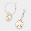 Small Light Gold Austrian Crystal Dangle Earrings