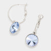 Small Light Blue Austrian Crystal Dangle Earrings | 291546
