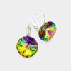 "Small Multi-Color Genuine Austrian Crystal Drop Earrings | 0.6"" x 0.8"" 