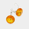 "Small Topaz Genuine Austrian Crystal Drop Earrings | 0.6"" x 0.8"""