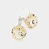 "Small Light Topaz Genuine Austrian Crystal Drop Earrings | 0.6"" x 0.8"""