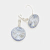 "Small Light Blue Genuine Austrian Crystal Drop Earrings | 0.6"" x 0.8"""