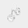 "Small Clear Genuine Austrian Crystal Drop Earrings | 0.4"" x 0.8"" 