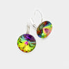 "Small Multi-Color Genuine Austrian Crystal Drop Earrings | 0.4"" x 0.8"""