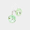 "Small Light Green Genuine Austrian Crystal Drop Earrings | 0.4"" x 0.8"""