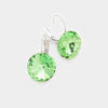 "Small Peridot Genuine Austrian Crystal Drop Earrings | 0.4"" x 0.8"""