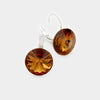 "Small Topaz Genuine Austrian Crystal Drop Earrings | 0.4"" x 0.8"""