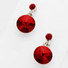 Little Girls Dark Red Dangle Earrings