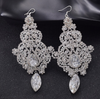 Crystal Rhinestone Long Chandelier Pageant Earrings | Prom Earrings | LMB- 003