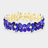 Sapphire Crystal Marquis Stone Pageant Bracelet | Prom Bracelet