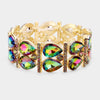 Multi-color Teardrop Stretch Pageant Bracelet