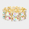 AB Teardrop Stretch Pageant Bracelet on Gold