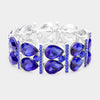 Sapphire Crystal Teardrop Stretch Pageant Bracelet
