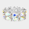 AB Crystal Teardrop Stretch Pageant Bracelet