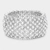 Clear Crystal Stretch Pageant Bracelet  Prom Bracelet