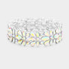 AB Crystal Flower Stretch Pageant Bracelet  | Prom Bracelet