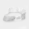 7 Row Clear Crystal Rhinestone Pageant Bracelet | Prom Bracelet | 389800