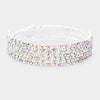 AB Crystal Rhinestone Adjustable Prom Bracelet | Pageant Bracelet
