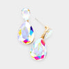 Little Girls AB Small Crystal Drop Pageant Earrings