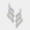 AB Crystal Statement Earrings on Silver