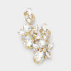 Clear Crystal Floral Chandelier Pageant Earrings | Prom Earrings