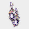 Amethyst Crystal Floral Vine Evening Earrings