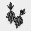 Black Crystal Marquise Cluster Pageant Earrings | Prom Earrings