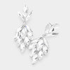 Clear Crystal Marquise Cluster Pageant Earrings  | Prom Earrings | 422159
