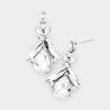 Small Clear Crystal Abstract Dangle Earrings
