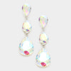AB Crystal Triple Teardrop Earrings | 237743