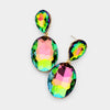 Multi-color Crystal Dangle Earrings | Interview Earrings | Prom Earrings | Pageant Earrings