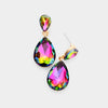 Small Multi-Color Crystal Teardrop Dangle Earrings | Little Girls | Older Girls Interview