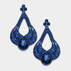 Large Chunky Cut Out Navy Crystal Teardrop Earrings | Tammy Lee's | 368871