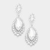 Small Clear Marquise Crystal Drop Pageant Earrings  | Prom Earring